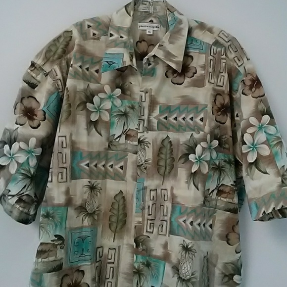cffbcee35 Pierre Cardin Shirts | Hawaiian Aloha Shirt By | Poshmark